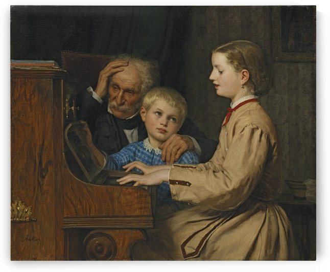 The Piano Lesson by Anker Albert