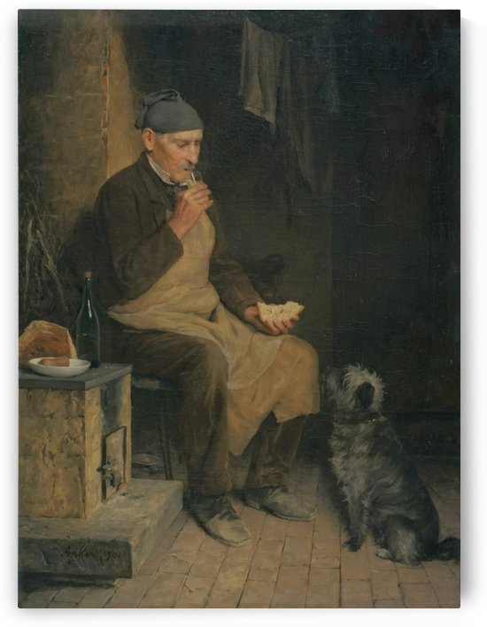 A man and his dog by Anker Albert
