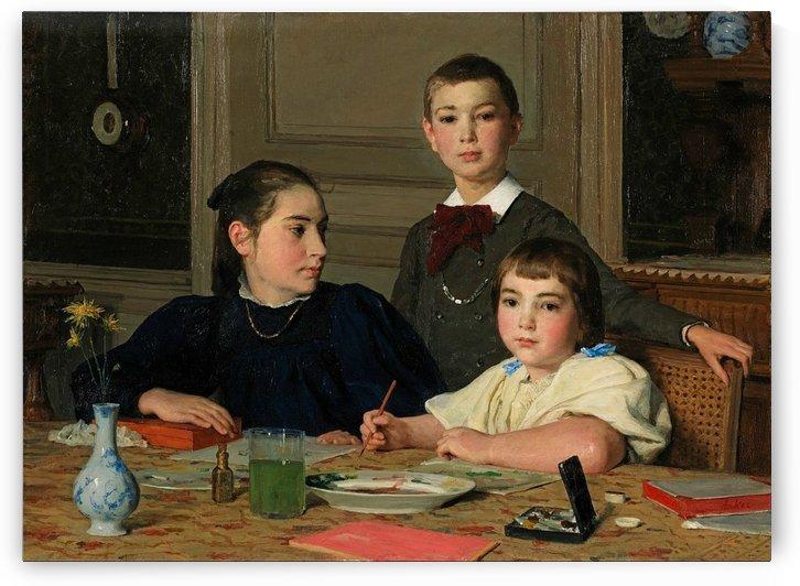Die Geschwister Zaeslin by Anker Albert