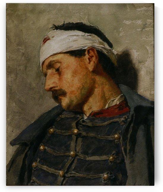 An injured man by Anker Albert