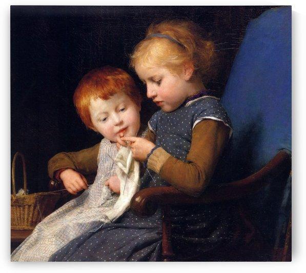 Little Knitters by Anker Albert