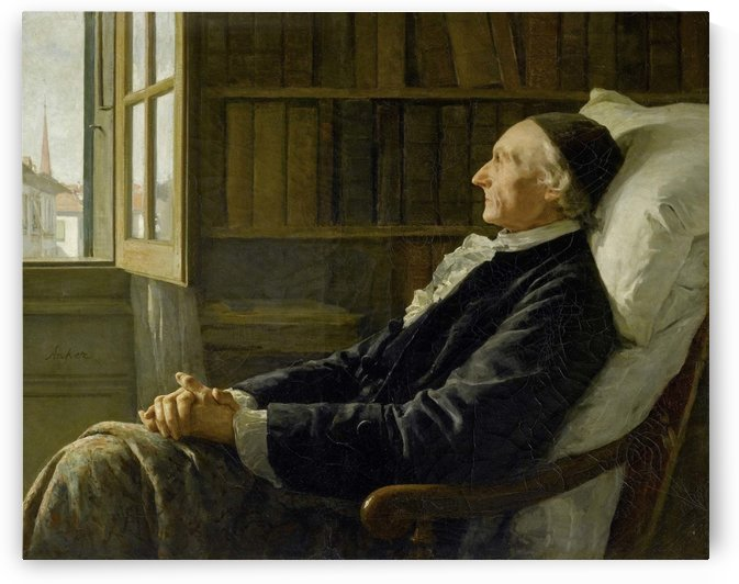 Lavater seated by Anker Albert