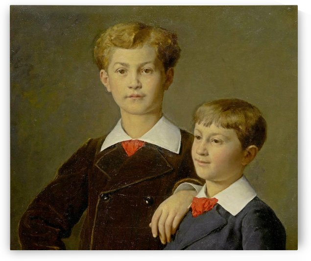 Two brothers portrait by Anker Albert