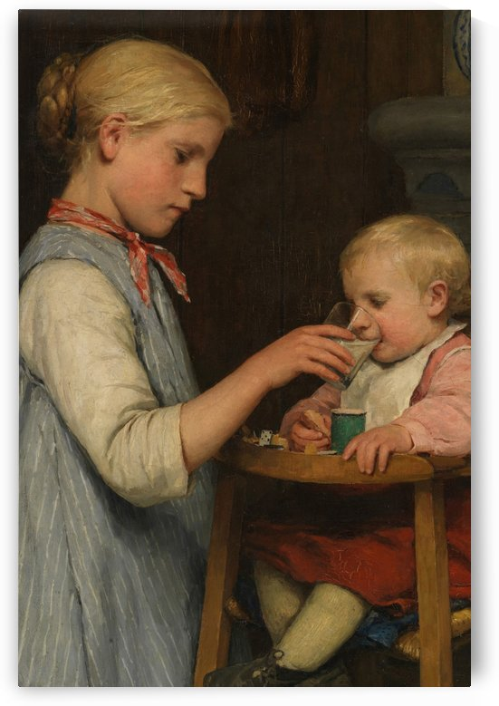 Taking care of the baby by Anker Albert
