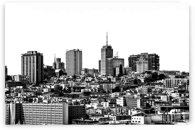 city view at San Francisco in black and white by TimmyLA