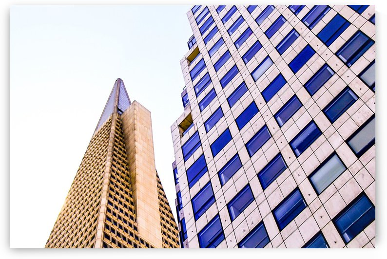 pyramid building and modern building at San Francisco, USA by TimmyLA