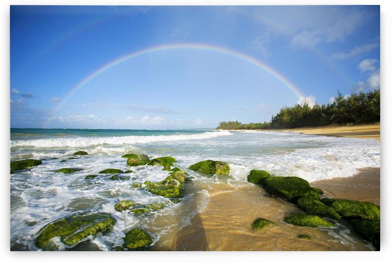 USA, Hawaii Islands, Maui, Double Rainbows; Baldwin Beach by PacificStock
