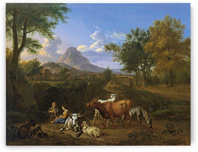 Pastorale Scene by Adriaen van de Velde