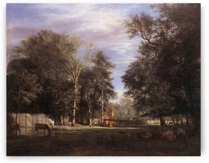 At the farm by Adriaen van de Velde