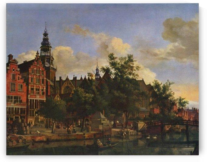 A view of Amsterdam by Adriaen van de Velde