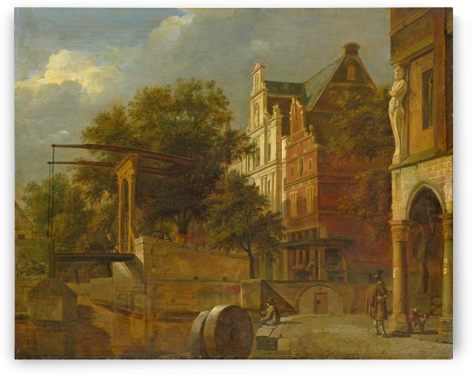 Cityscape with Drawbridge, 1660 - 1672 by Adriaen van de Velde