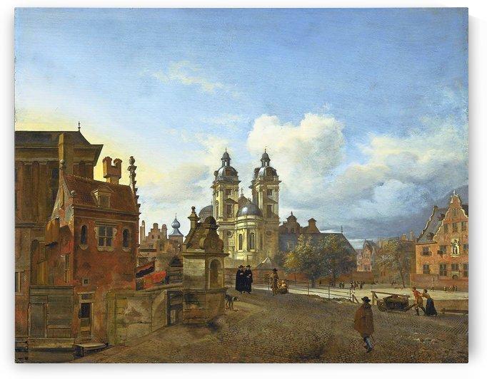 View of Dusseldorf by Adriaen van de Velde