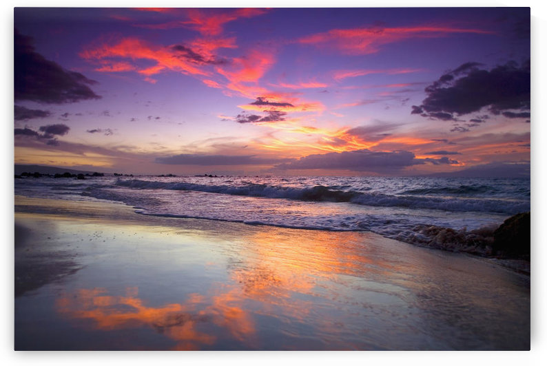 USA, Hawaii Islands, Maui, Mokapu Beach; Wailea, Sunset by PacificStock
