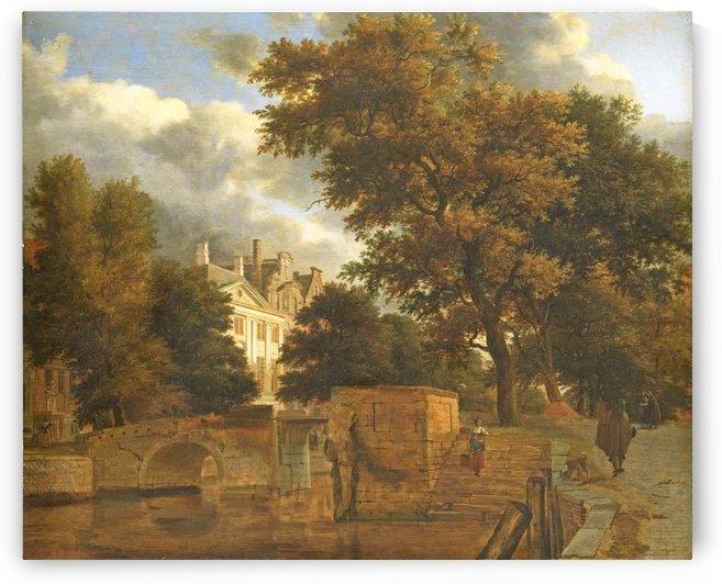 The stone bridge, 1660 - 1672 by Adriaen van de Velde