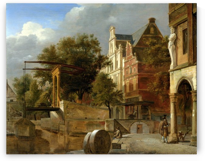 De ophaalbrug by Adriaen van de Velde