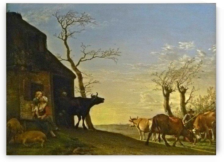 Potter driving cattle pasture by Adriaen van de Velde