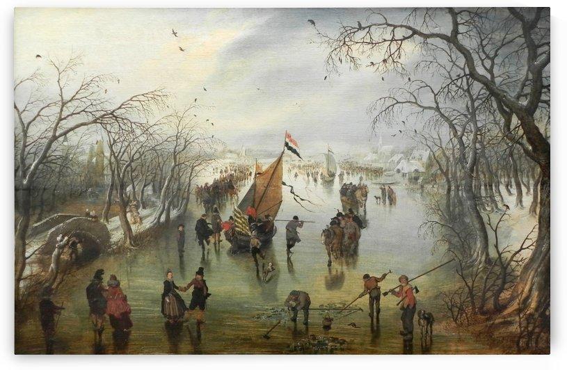 Winter Scene, 1614 by Adriaen van de Velde