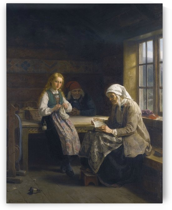 Family life by Adolph Tidemand