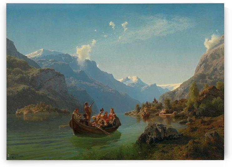 Brudeferd i Hardanger fra 1848 by Adolph Tidemand