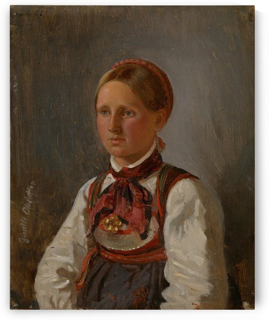 Portrait of Gunild Olsdatter by Adolph Tidemand