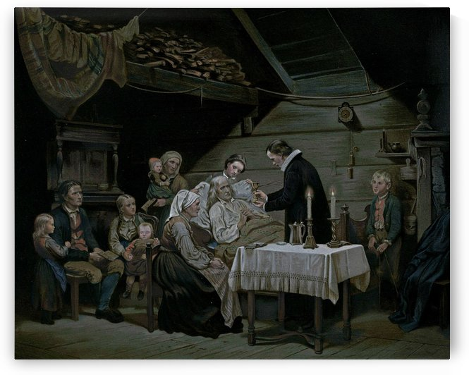 Taking care of the elderly by Adolph Tidemand