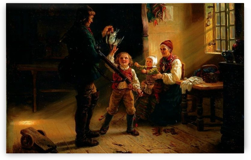 Returning home from the hunt by Adolph Tidemand