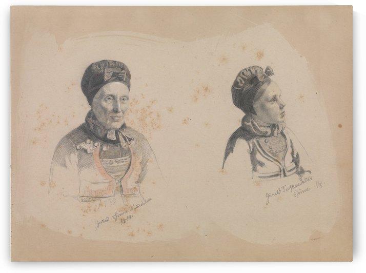 Gjertrud Skjonne by Adolph Tidemand
