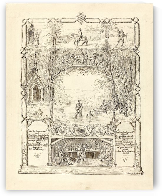 Raad for uraad 1848 by Adolph Tidemand