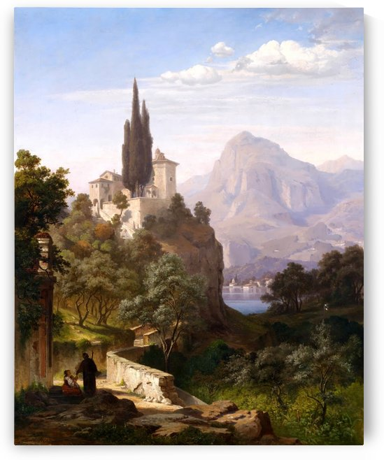 A distant castle by August Hermann Kruger