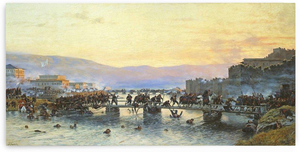 Storming the Fortress of Ardahan May 5, 1877 by Alexei Danilovich Kivshenko
