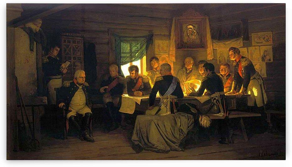 Generals in a conference by Alexei Danilovich Kivshenko