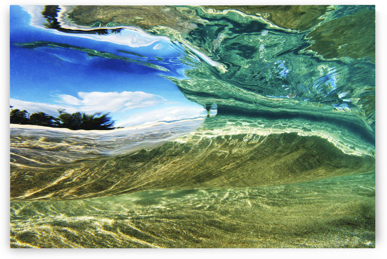 Hawaii, Oahu, Underwater View Of Wave. by PacificStock