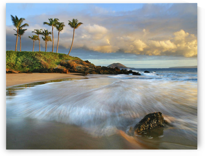 Hawaii, Maui, Makena, Secret Beach At Sunset. by PacificStock