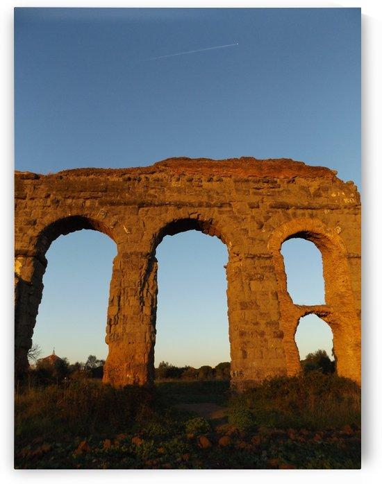 Landscape, photography, Italian Sunshine - Roman aqueduct - The Roman landscape, Rome, Italy, photography by Alessandro Nesci