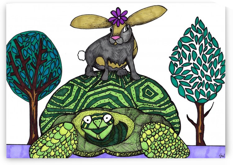 tortoise and hare by Susan Watson