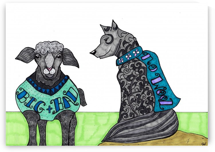 Sheep in wolfs clothing by Susan Watson
