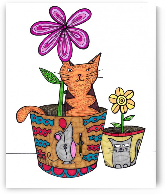 Cat in a Pot by Susan Watson
