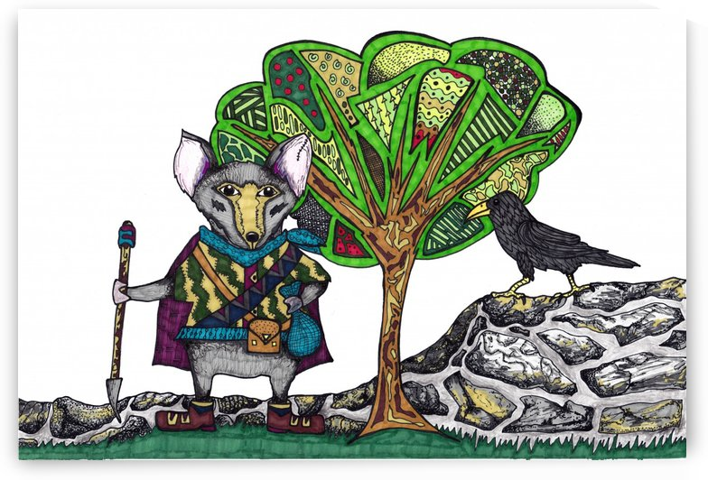 Warrior Mouse (white background) by Susan Watson
