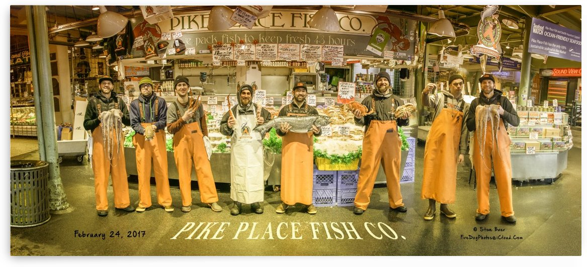 Seattle Pike Place Fish Market by Steve