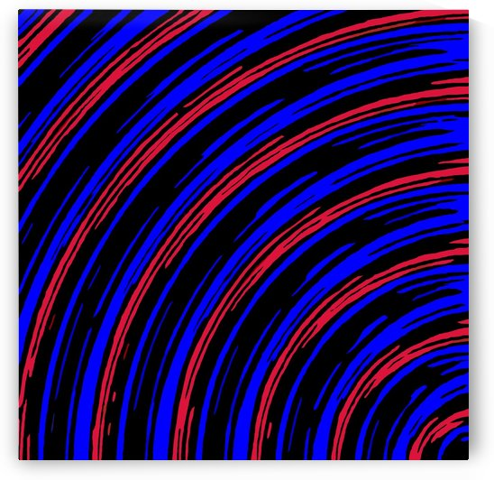 graffiti line drawing abstract pattern in blue red and black by TimmyLA