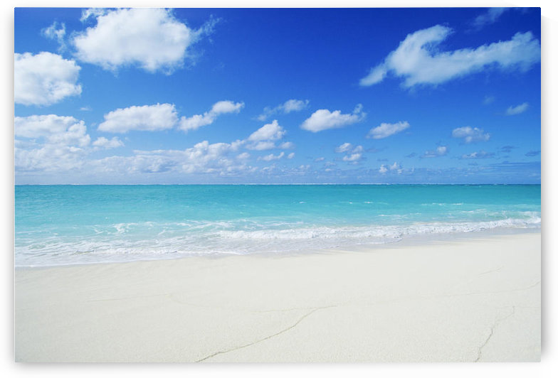 Northwestern Hawaiian Islands, Midway Atoll, Sand Island, Turquoise Ocean And White Sand Beach. by PacificStock