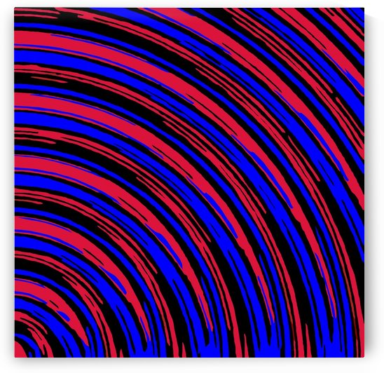 graffiti line drawing abstract pattern in red blue and black by TimmyLA