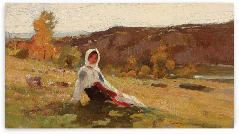 The shepherdess by Nicolae Grigorescu