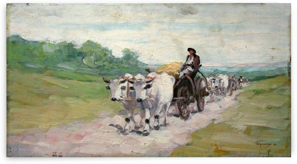 Car cu boi 5 by Nicolae Grigorescu