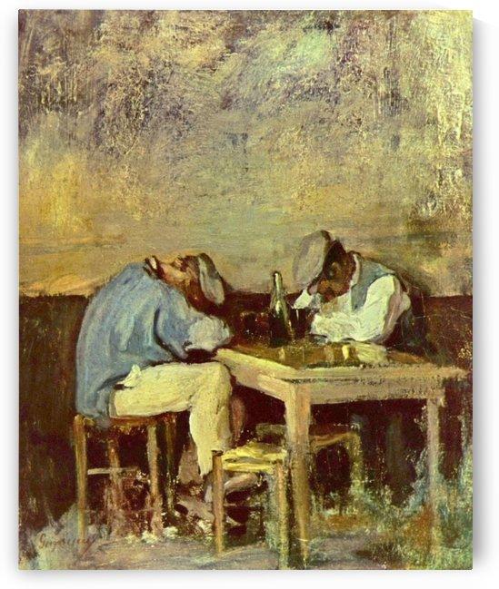 Two drunks by Nicolae Grigorescu