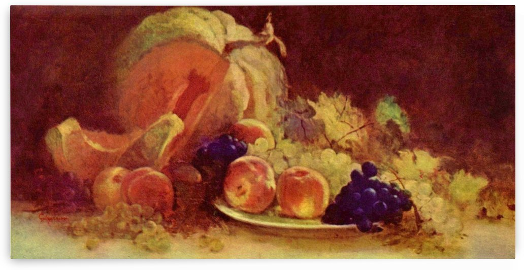 Still life with fruit by Nicolae Grigorescu