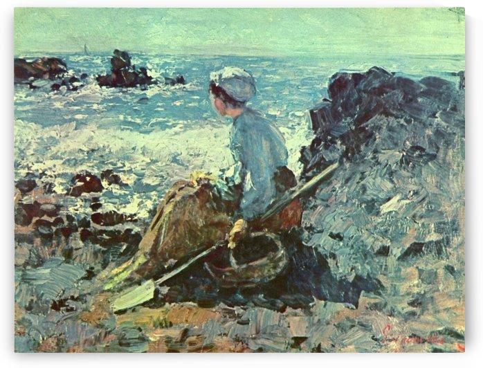 Pescarita la Grandville by Nicolae Grigorescu