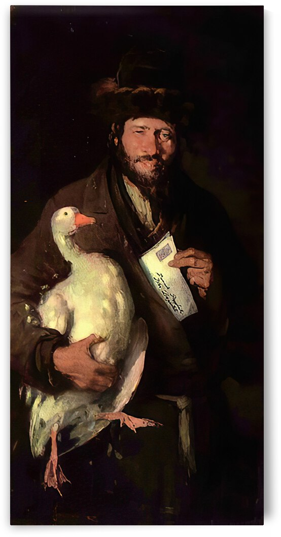 Jewish man with goose by Nicolae Grigorescu