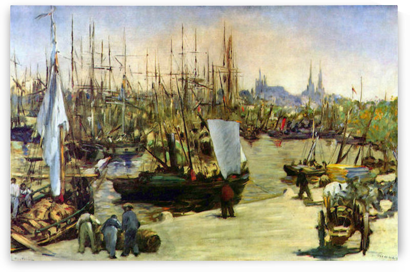 Port of Bordeaux by Manet by Manet