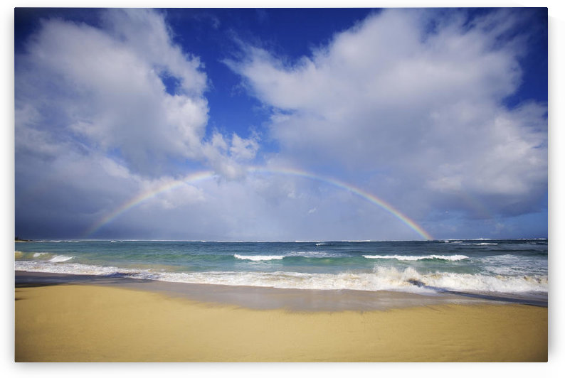 USA, Hawaii, Rainbow at Baldwin Beach; Maui by PacificStock